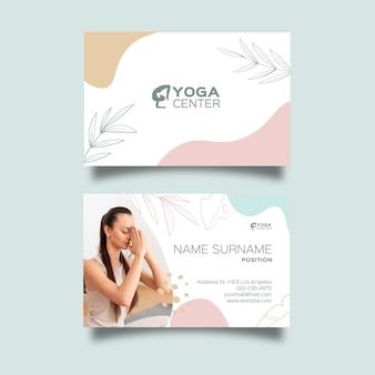 Cartão de visita dupla face para meditação