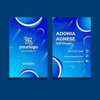 Cartão de visita dupla face para negócios em geral