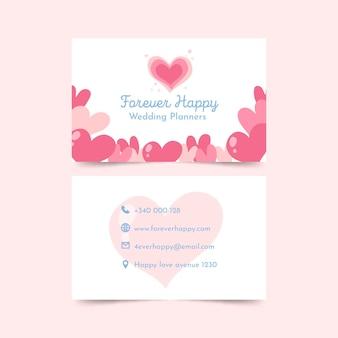 Cartão de visita dupla-face para planejador de casamento