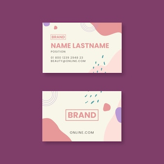 Cartão de visita dupla face para salão de beleza