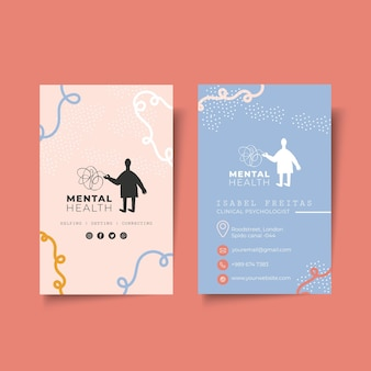 Cartão de visita dupla face psicológico