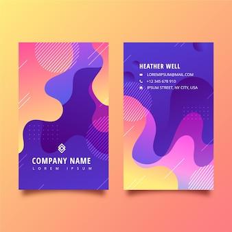 Cartão de visita dupla face vertical gradiente