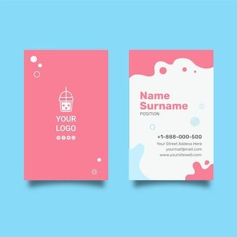 Cartão de visita dupla-face vertical