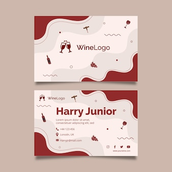 Cartão de visita dupla-face vinho