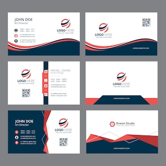 Cartão de visita e modelo de identidade de marca