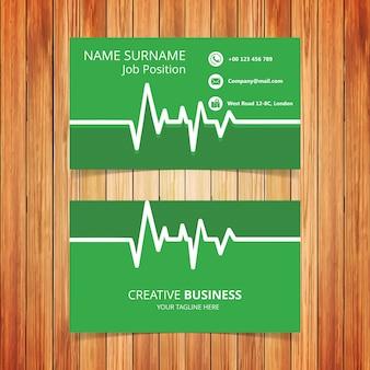 Cartão de visita ecg verde