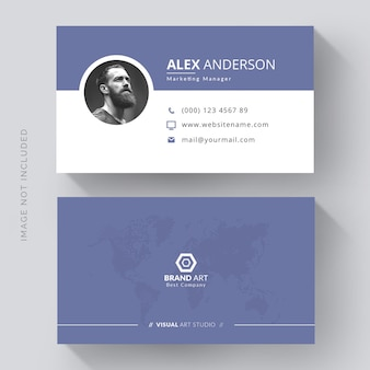 Cartão de visita elegante com foto