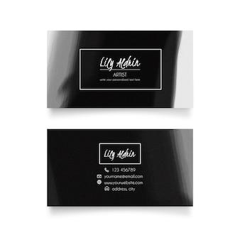 Cartão de visita elegante da aguarela
