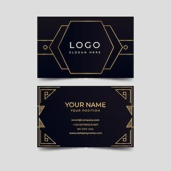Cartão de visita elegante de design de luxo
