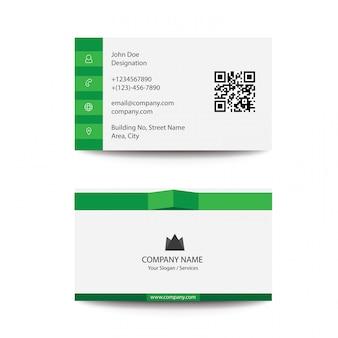 Cartão de visita elegante do negócio da cor verde do estilo da dobra limpa lisa elegante