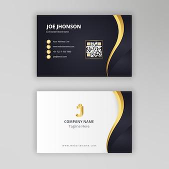 Cartão de visita elegante ouro preto