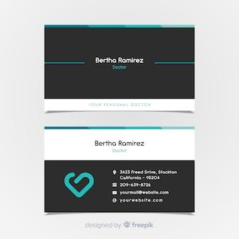 Cartão de visita elegante para o hospital ou o doutor