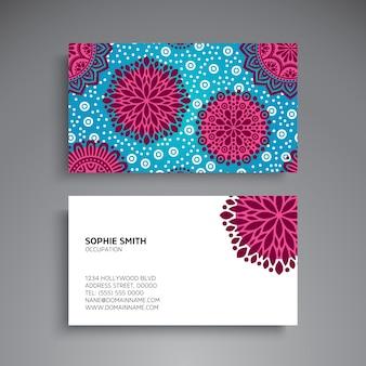 Cartão de visita elementos decorativos do vintage cartões de visitas florais ornamentais ilustração padrão do vetor do padrão oriental