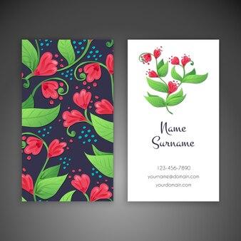 Cartão de visita elementos decorativos vintage hand drawn background