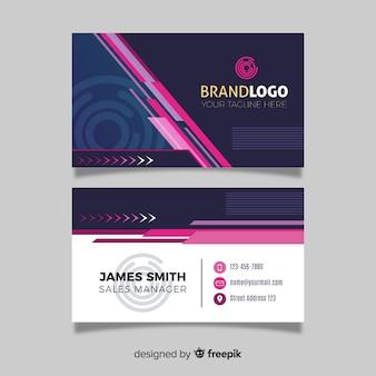 Cartão de visita em design abstrato