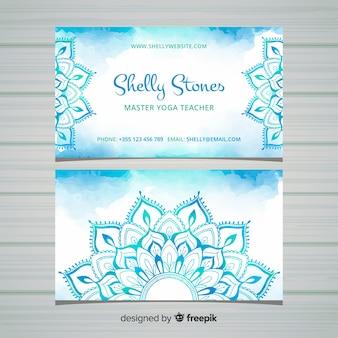 Cartão de visita em estilo mandala