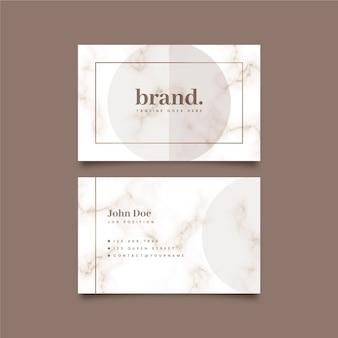 Cartão de visita em estilo minimalista