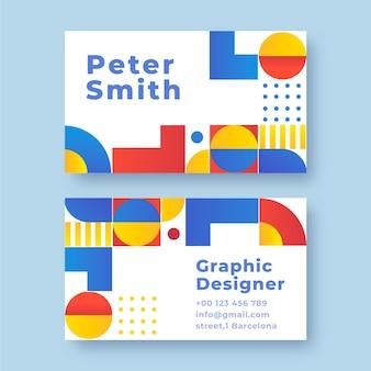 Cartão de visita em mosaico de estilo gradiente