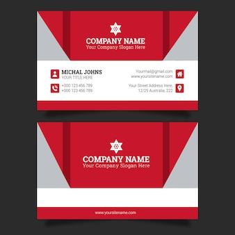 Cartão de visita em vermelho