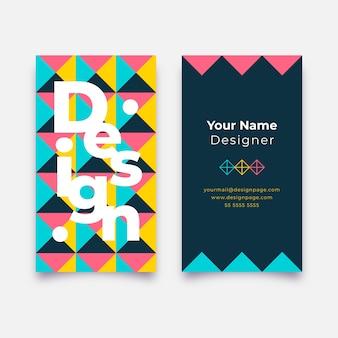 Cartão de visita engraçado do designer gráfico