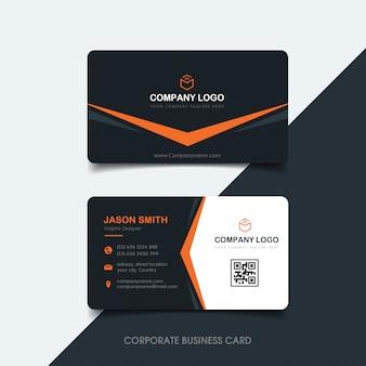 Cartão de visita escuro e laranja