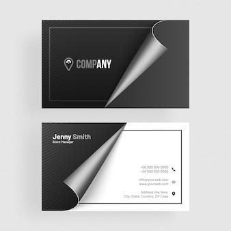 Cartão de visita escuro, limpo, preto.