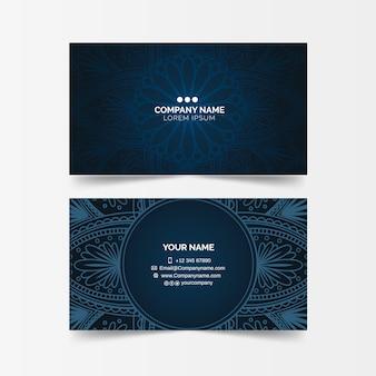 Cartão de visita escuro mandala