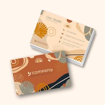 Cartão de visita estilo boho desenhado à mão