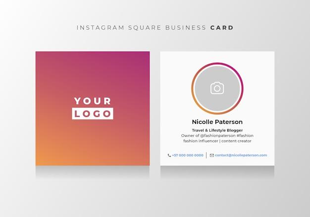 Cartão de visita estilo instagram