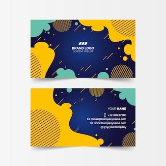 Cartão de visita estilo memphis