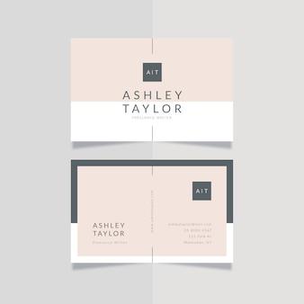 Cartão de visita estilo minimalista