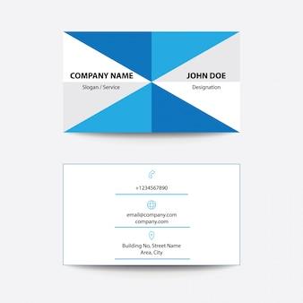Cartão de visita flat flat design fold style blue flat