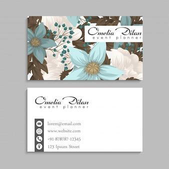 Cartão de visita flor