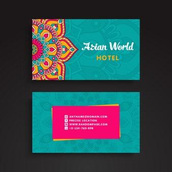 Cartão de visita floral colorido