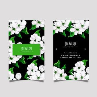 Cartão de visita floral da aguarela criativa