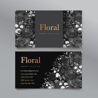 Cartão de visita floral elegante
