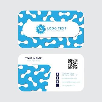 Cartão de visita frente e verso criativo e limpo