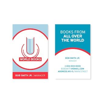 Cartão de visita frente e verso de design plano