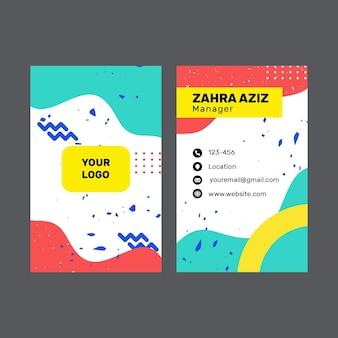 Cartão de visita frente e verso do negócio do marketing