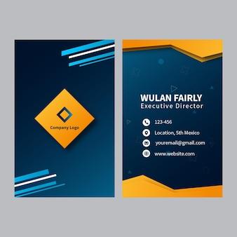 Cartão de visita frente e verso do negócio