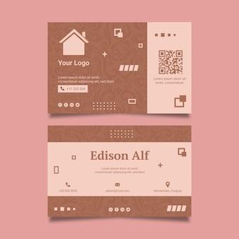 Cartão de visita frente e verso imobiliário