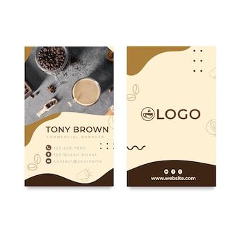 Cartão de visita frente e verso para café