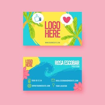 Cartão de visita frente e verso