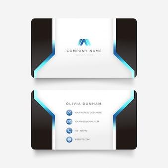 Cartão de visita futurista