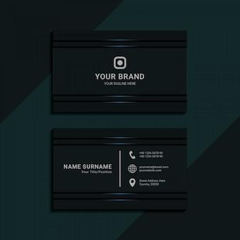Cartão de visita geométrico abstrato para premium corporativo