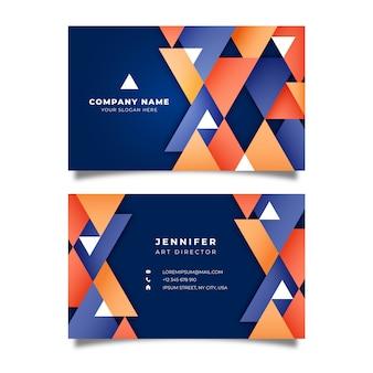 Cartão de visita geométrico abstrato