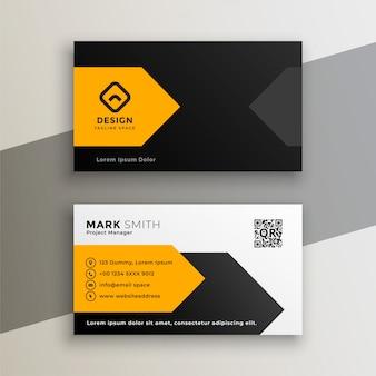 Cartão de visita geométrico amarelo moderno