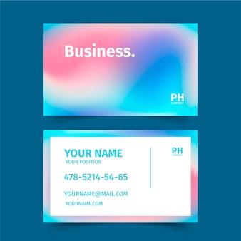 Cartão de visita gradiente colorido