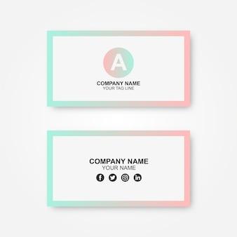 Cartão de visita gradiente com um logotipo