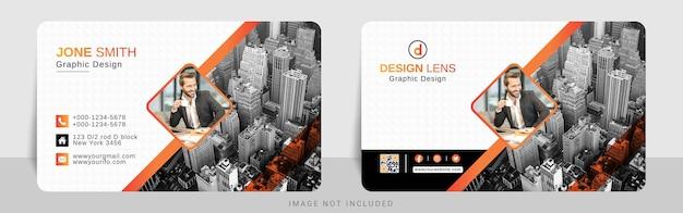 Cartão de visita gradiente vermelho laranja corporativo
